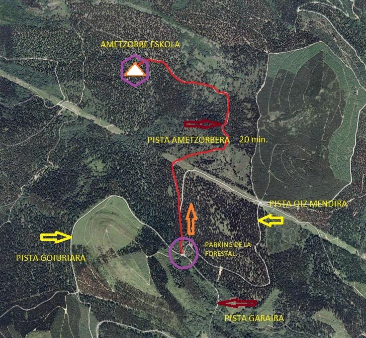 Ametzorbe aproximacion pista forestal